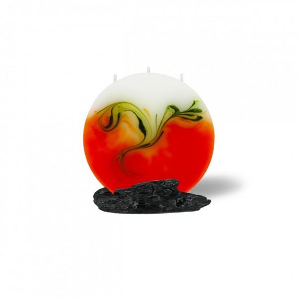 Mond Kerze mini 214 - orange/olive/weiß