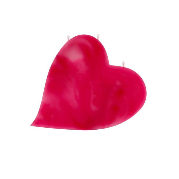 Herze-Kerze-rosa