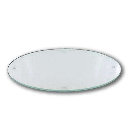 """Glasteller """"oval"""" für Segel und Mond Kerzen"""