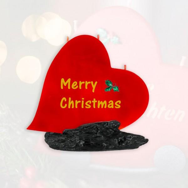 Herz Kerze Merry Christmas