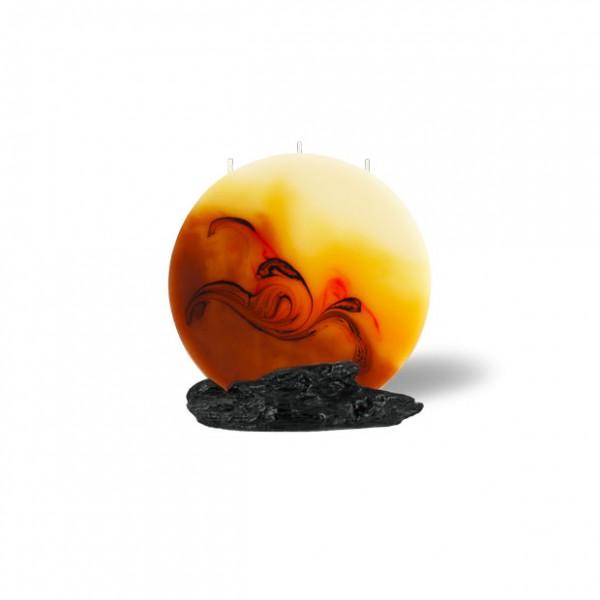 Mond Kerze mini 504 - cappuccino/hellorange/braun/creme