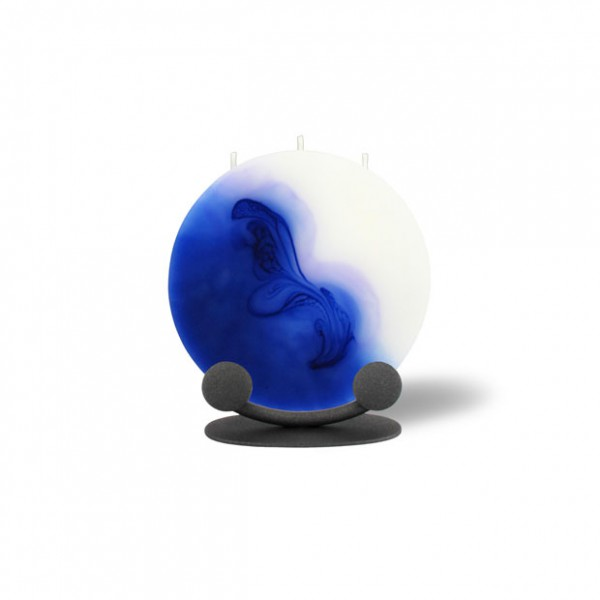 Mond Kerze mini 614 Halterung - blau/lila/weiß