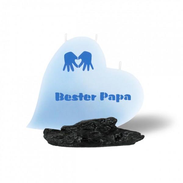 Herz Kerze Bester Papa