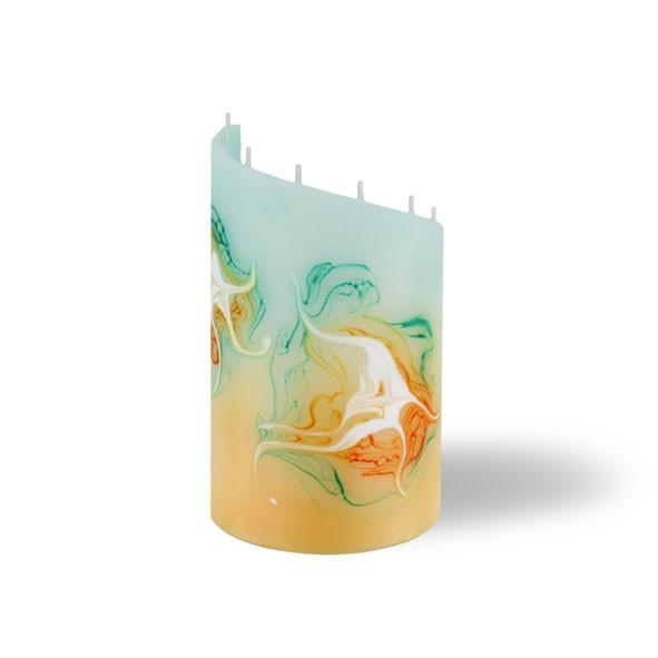 Zylinder Kerze klein 8 Dochte