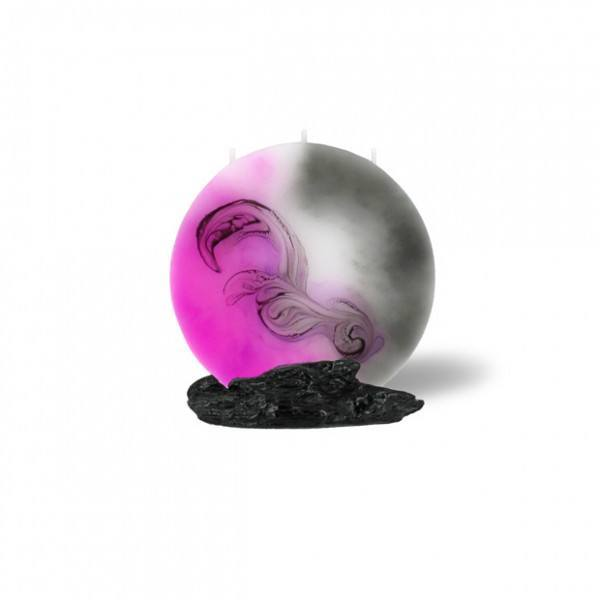 Mond Kerze -S- 14cm - Pink Lady Kollektion