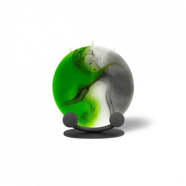 Mond Kerze mini 601 Halterung - grün/weiß/grau