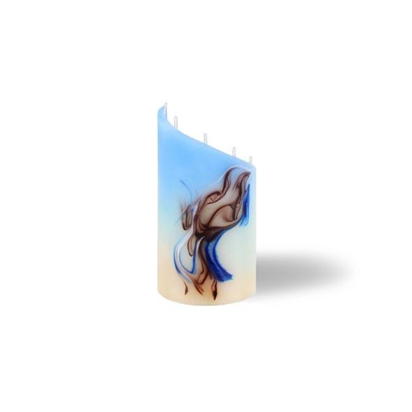 Zylinder mini - blau/türkis/cappuccino