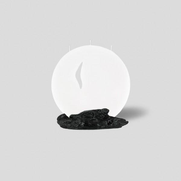 Mond Kerze S - Ikigai - mit ausgeschnittenem Ornament