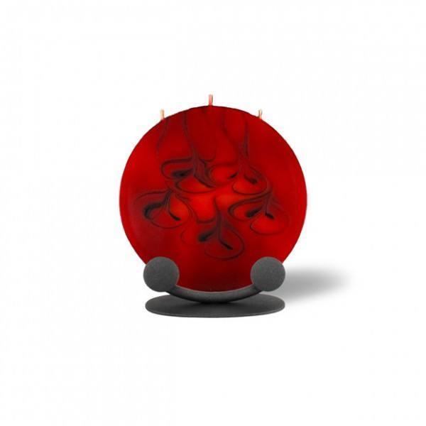 Mond Kerze mini mit Halterung 3 Dochte - rot/braun/orange
