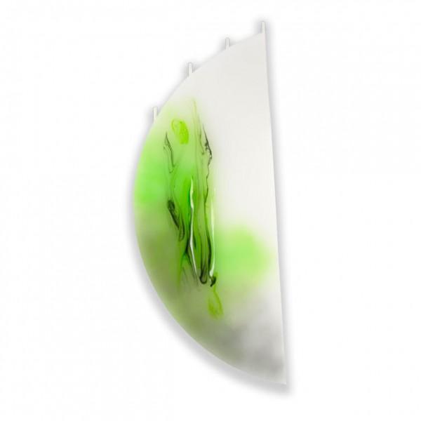 Viertelmond Kerze 626 ohne Halterung - hellgrün mit grau untergemischt