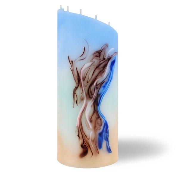 Zylinder - blau/türkis/cappuccino