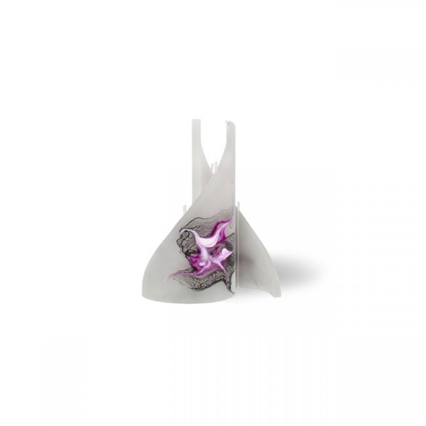 Segel Kerze mini 3 Dochte - grau/pink/weiß/schwarz