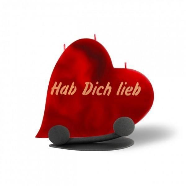 Herz Kerze 697 Halterung - Hab Dich lieb