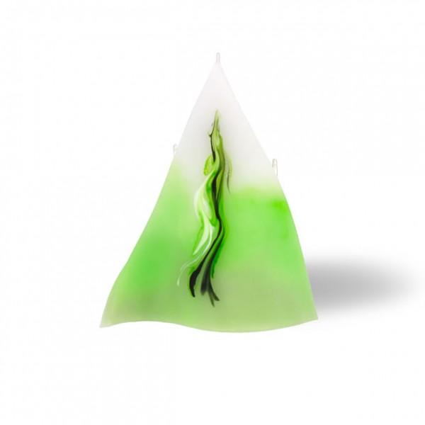 Triangel Kerze 626 - hellgrün mit grau untergemischt