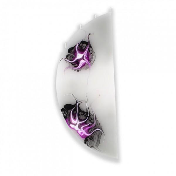 Viertelmond Kerze ohne Halterung 4 Dochte - grau/pink/weiß/schwarz