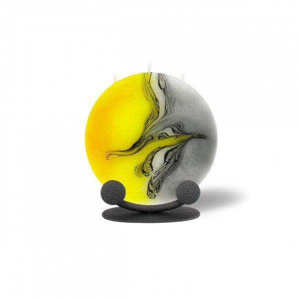 Mond Kerze mini 603 Halterung - gelb/weiß/grau