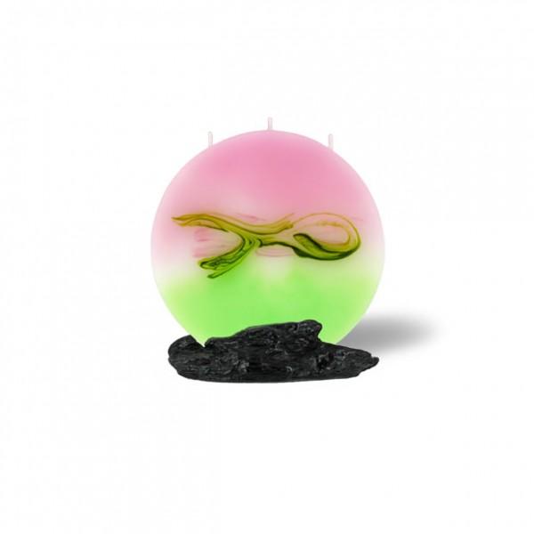 Mond Kerze mini 627 - hellrosa mit hellgrün
