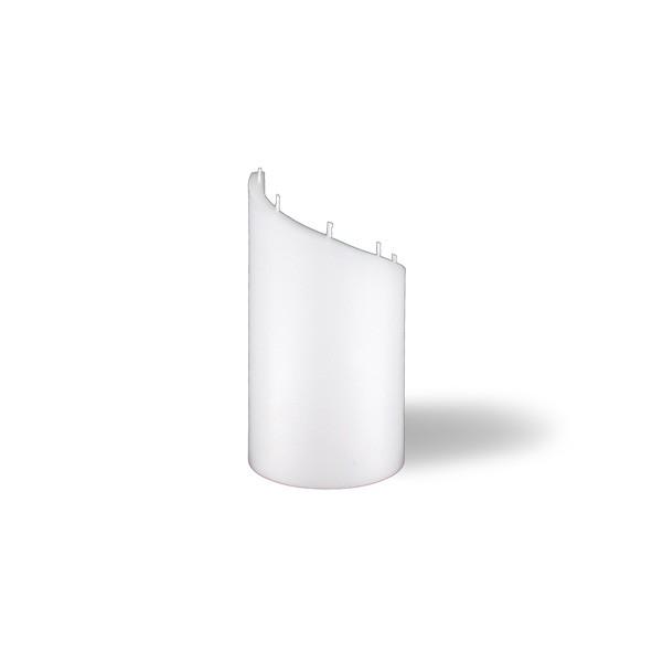 Zylinder Kerze -S- 16,5cm - weiß