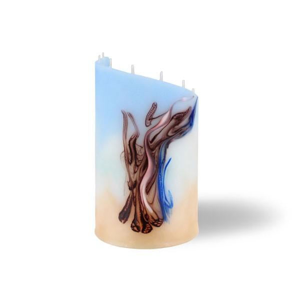 Zylinder klein - blau/türkis/cappuccino