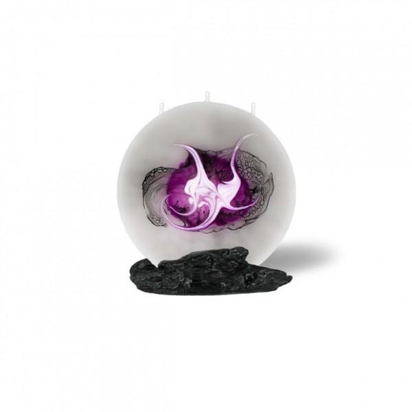 Mond Kerze mini 3 Dochte - grau/pink/weiß/schwarz