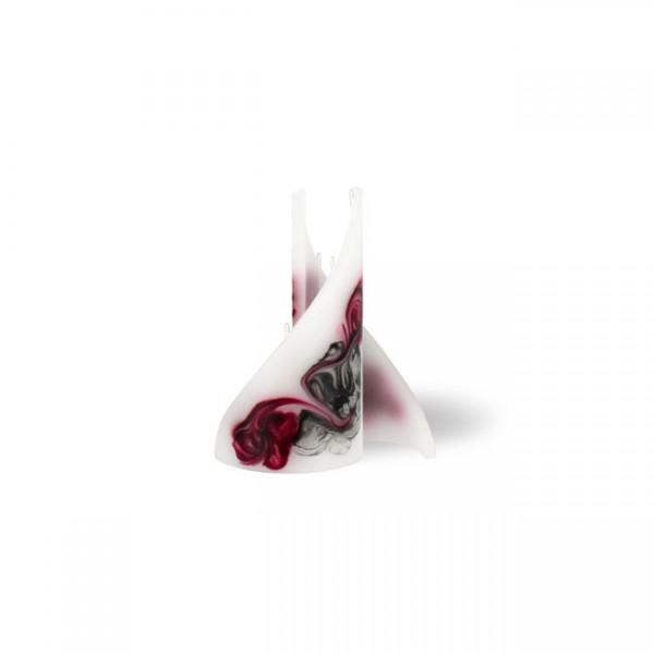 Segel Kerze mini 3 Dochte -  rosa/aubergine/grau/weiß