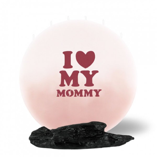 Mond Kerze -L- 25cm - I love my Mommy