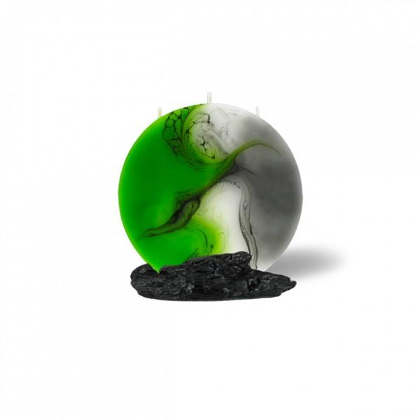 Mond Kerze mini 601 - grün/weiß/grau