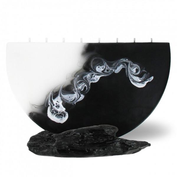 Halbmond Kerze groß 8 Dochte