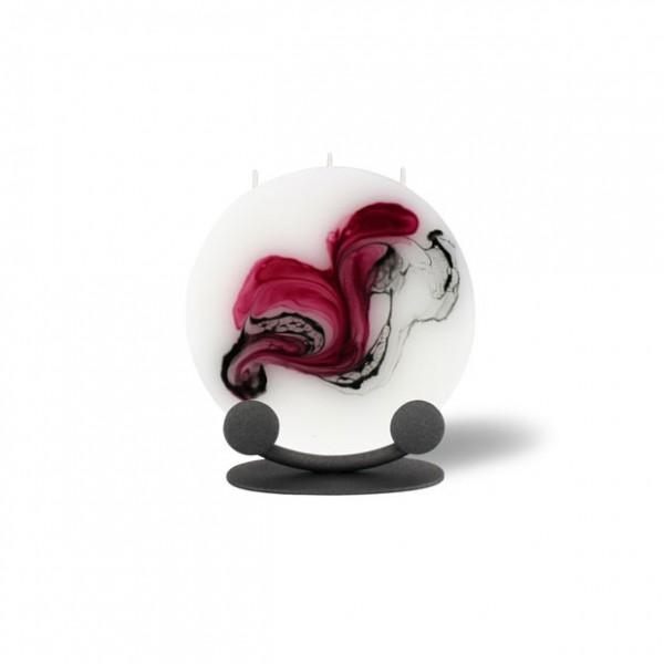 Mond Kerze mini 623 Halterung - rosa/aubergine/grau/weiß
