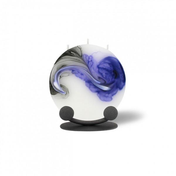 Mond Kerze mini mit Halterung 3 Dochte -  lila/weiß/grau