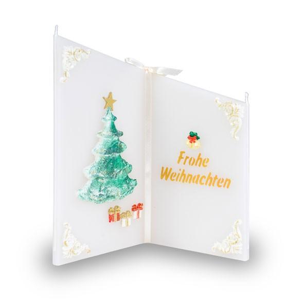 Weihnachten Wunsch.Wunsch Kerze 818 Tannenbaum Beschriftet Mit Frohe Weihnachten