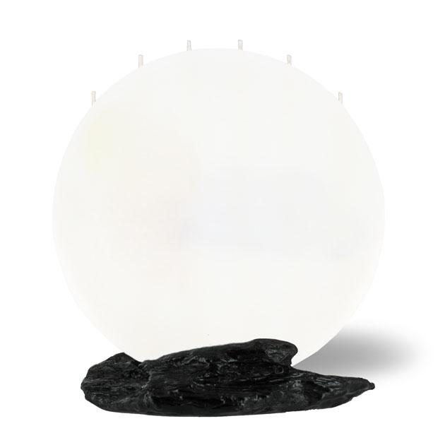 Mond-Kerze-gross-weiss