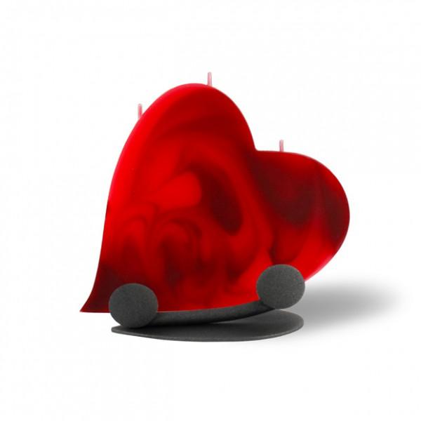 Herz Kerze 667 Halterung - rot/dunkelrot