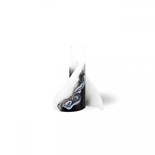 Segel Kerze mini 3 Dochte -  weiß/schwarz