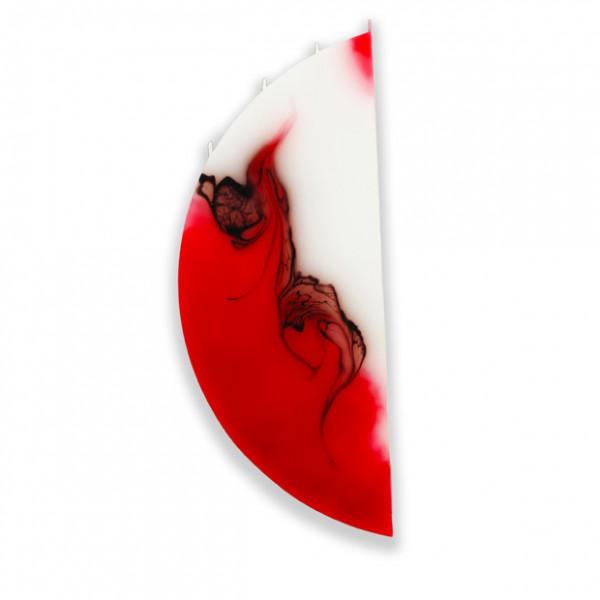 Viertelmond Kerze 333 ohne Halterung - rot/braun/weiß