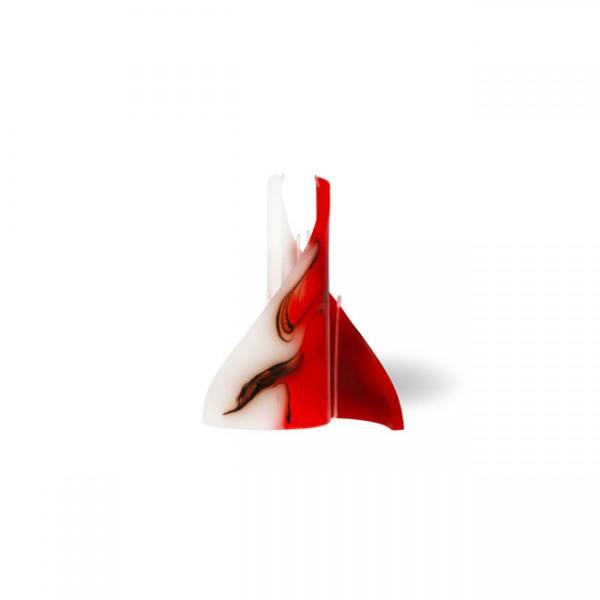 Segel Kerze mini 3 Dochte -  rot/braun/weiß