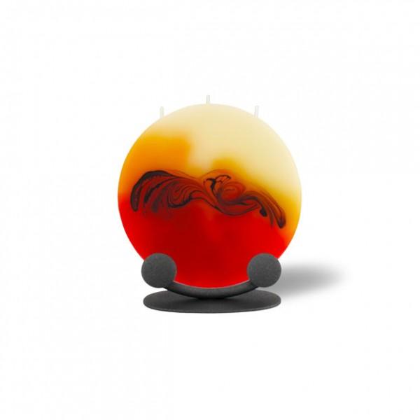 Mond Kerze mini 216 Halterung - rot/orange/braun/creme