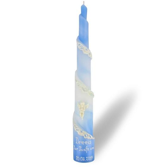 Rulo Kerze in blau-weiß