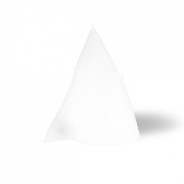 3 Docht Triangel Kerze -  weiß