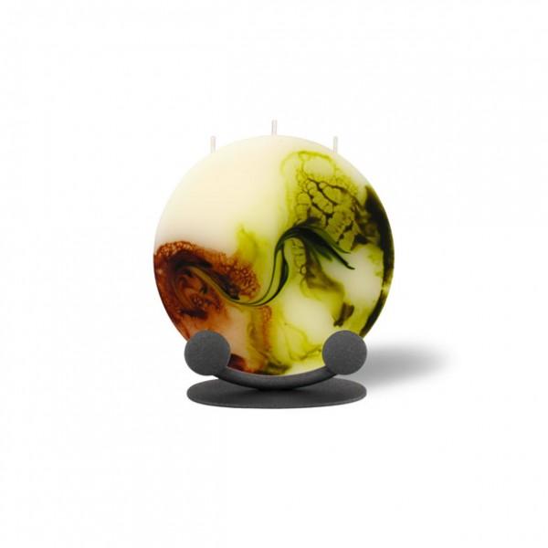 Mond Kerze mini 624 Halterung - retrogrün/olivegrün/cappuccino/creme