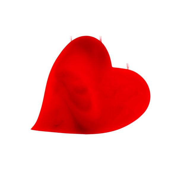 Herze-Kerze-rot