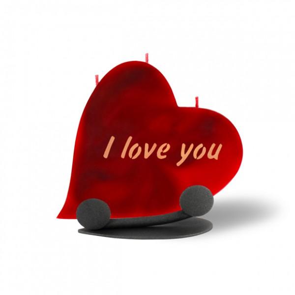 Herz Kerze 698 Halterung - I love you